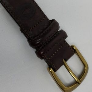 H.S. Trask Co. Brown American Bison leather sz34